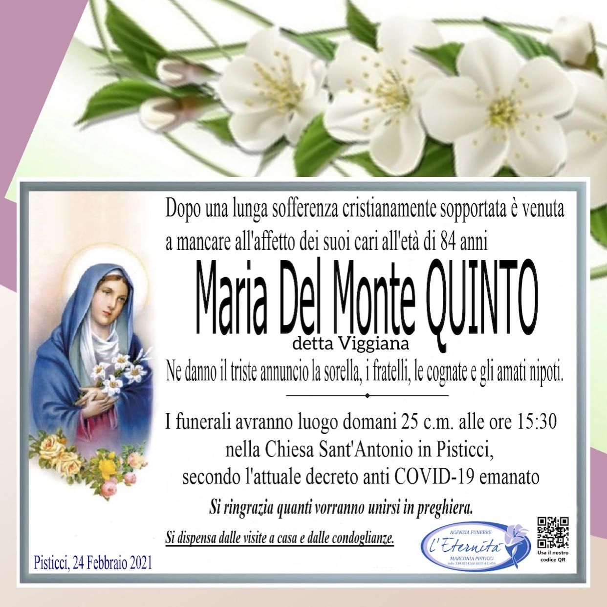 Maria del Monte QUINTO